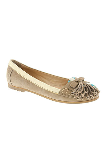 manas lea foscati chaussures femme de couleur beige