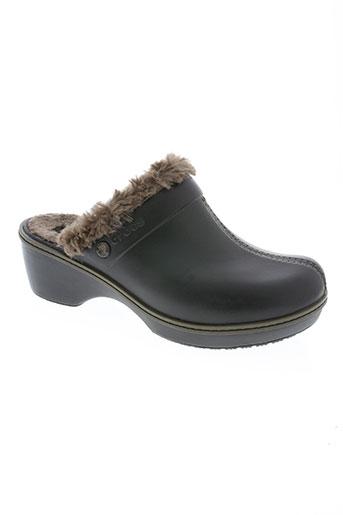 crocs chaussures fille de couleur marron