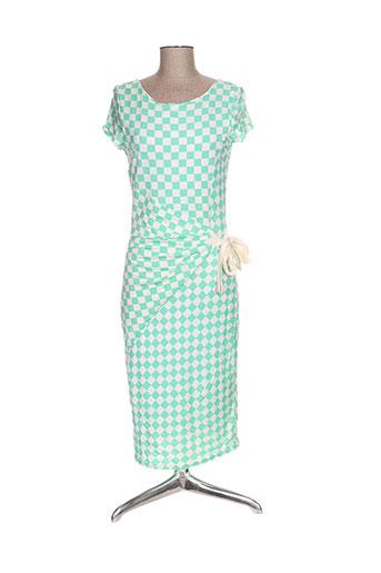 lonkel robes femme de couleur vert