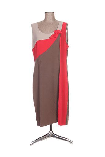 Robe mi-longue marron BLEE KLUM pour femme