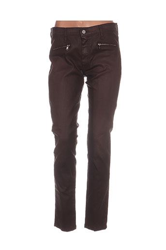 desgaste jeans femme de couleur marron