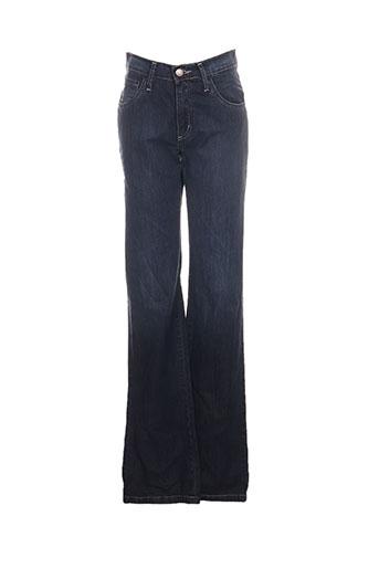 desgaste jeans femme de couleur bleu
