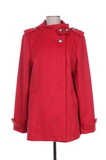 ddp manteaux femme de couleur rouge