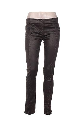 ikks pantalons femme de couleur marron