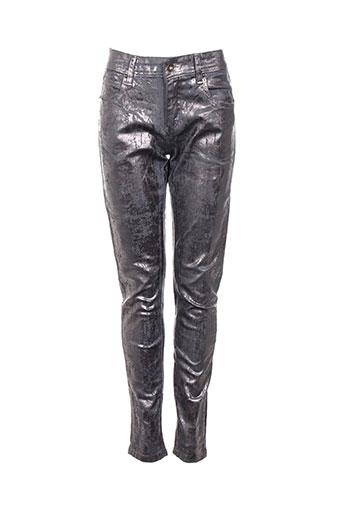 huit six sept pantalons femme de couleur gris