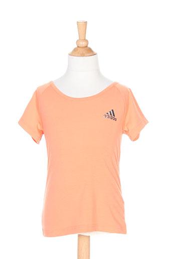 adidas t-shirts fille de couleur orange