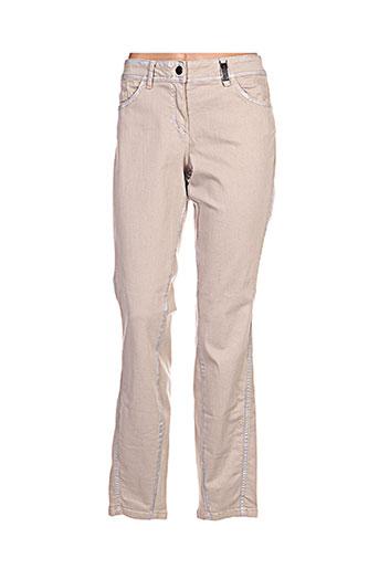 sportalm pantalons femme de couleur beige
