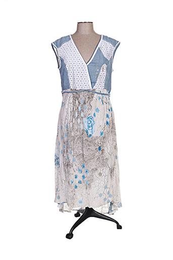elisa cavaletti robes femme de couleur bleu