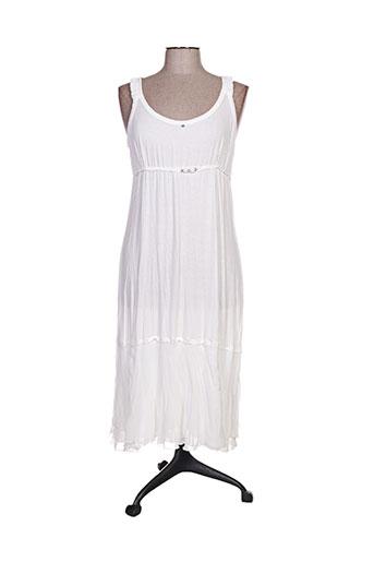 elisa cavaletti robes femme de couleur blanc