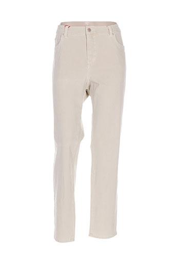 anna montana jeans femme de couleur beige