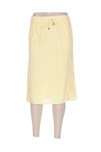 lebek jupes femme de couleur jaune