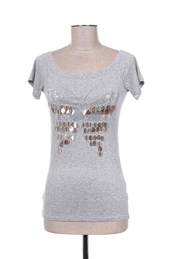 luzabelle t-shirts femme de couleur gris