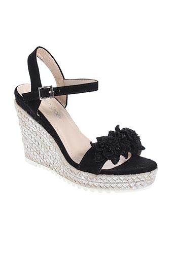 chc-shoes chaussures femme de couleur noir