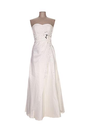 juju & christine robes femme de couleur blanc
