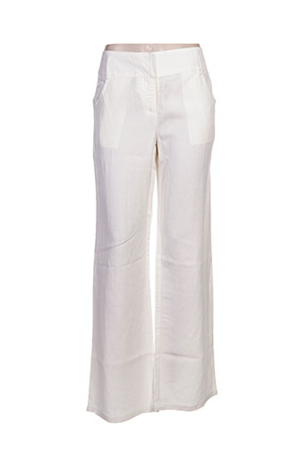 my collection pantalons femme de couleur blanc