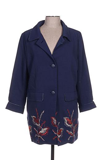 Manteau long bleu DARLING pour femme