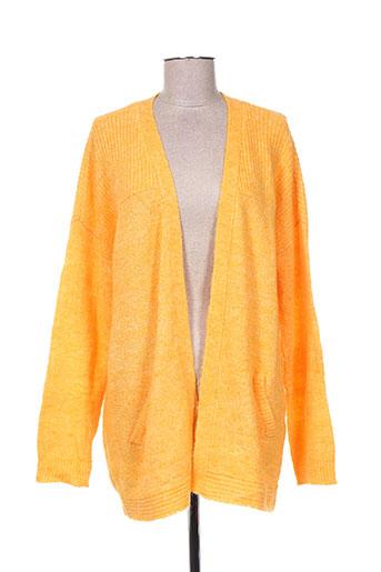 vila gilets femme de couleur orange