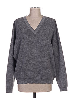 Pull col V gris GOLDEN GOOSE DELUXE BRAND pour homme
