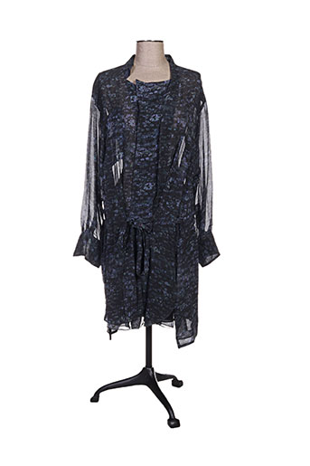 isabel marant robes femme de couleur bleu