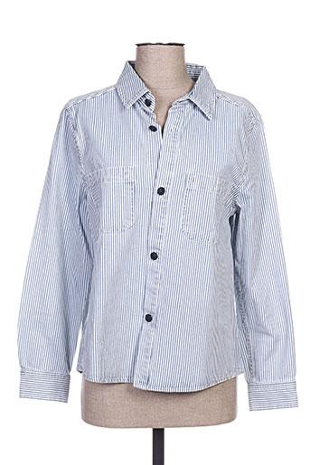 a.p.c. chemises femme de couleur bleu