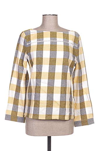 a.p.c. t-shirts femme de couleur jaune