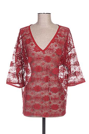 masscob chemises femme de couleur rouge