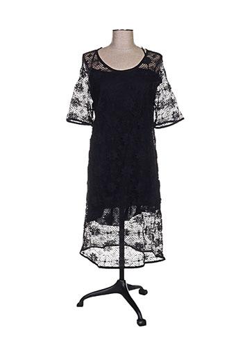 Robe mi-longue noir MASSCOB pour femme