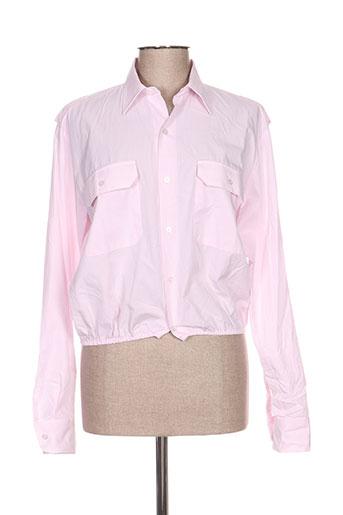 mpd box chemises femme de couleur rose