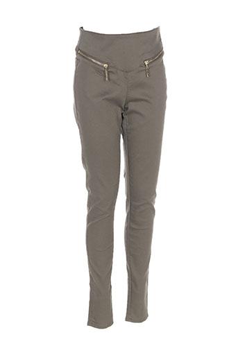 Jeans coupe slim vert VERO MODA pour femme