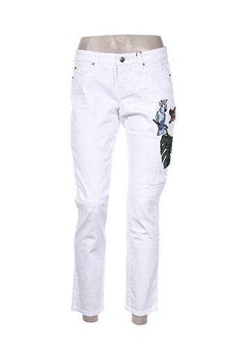 cambio jeans femme de couleur blanc
