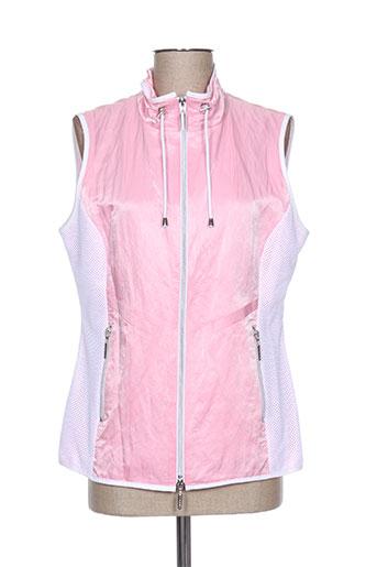 faber vestes femme de couleur rose