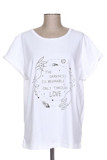 i blues t-shirts femme de couleur blanc