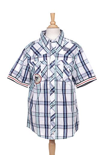 mexx chemises garçon de couleur bleu