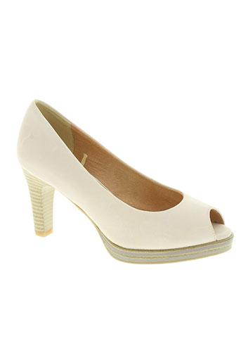 marco tozzi chaussures femme de couleur beige