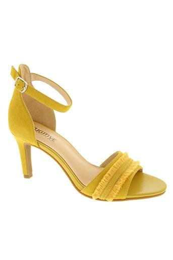 fugitive by francesco rossi chaussures femme de couleur jaune