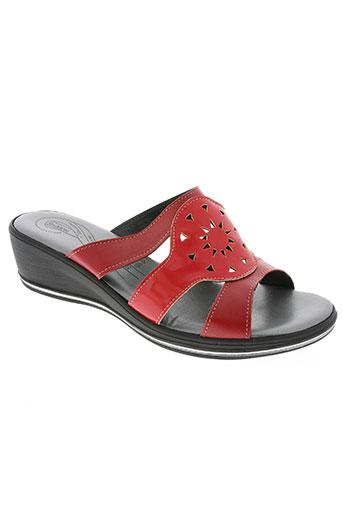 saimon chaussures femme de couleur rouge