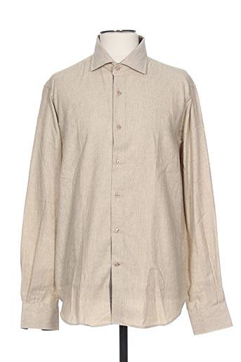 ch. k. williams chemises homme de couleur marron