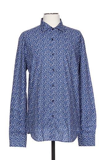 ch. k. williams chemises homme de couleur bleu