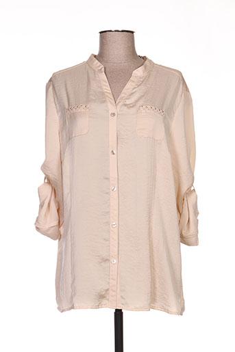lucia chemises femme de couleur beige