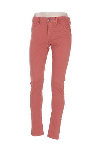 ichi jeans femme de couleur marron