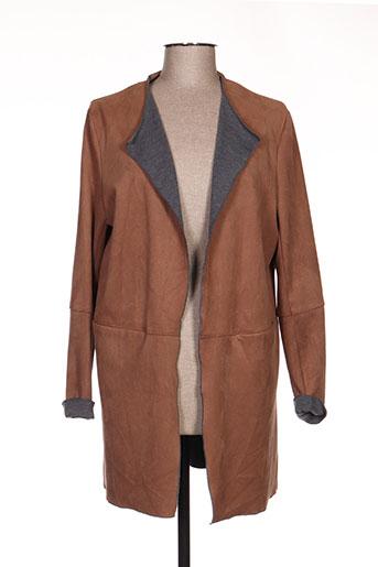 jocavi vestes femme de couleur marron