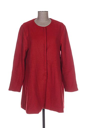 Manteau long rouge DAPHNEA pour femme