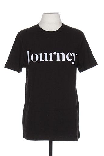 T-shirt manches courtes noir SAMSOE & SAMSOE pour homme