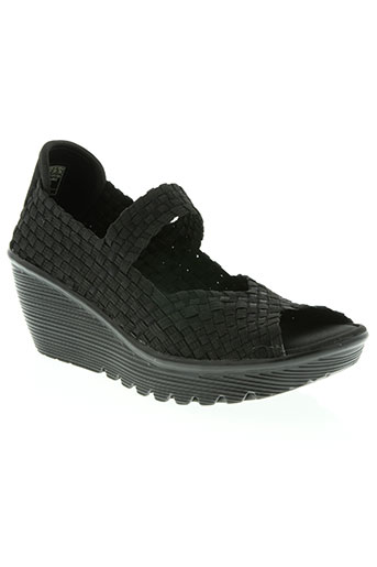 skechers chaussures femme de couleur noir