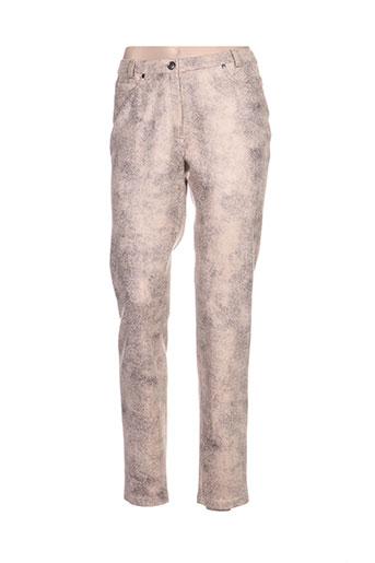 meri EFFI_CHAR_1 esca pantalons femme de couleur beige