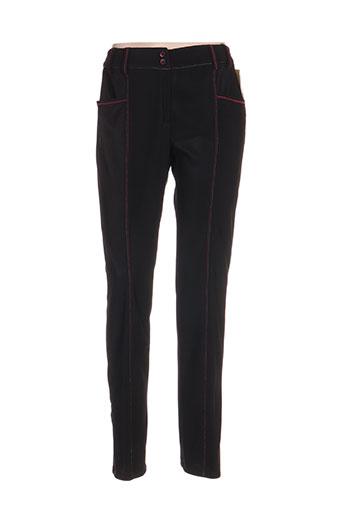 france rivoire pantalons femme de couleur noir