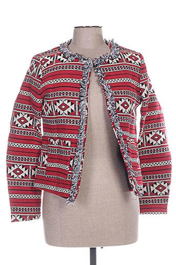 jubylee vestes femme de couleur rouge