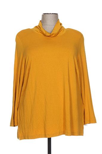 chalou t-shirts femme de couleur jaune