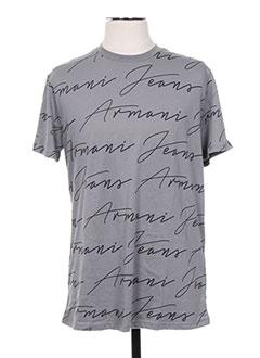 T-shirt manches courtes gris ARMANI pour homme