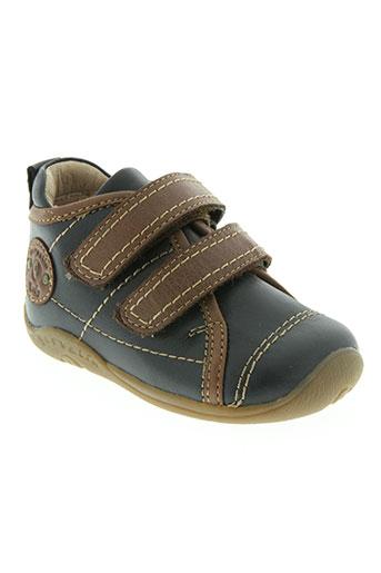 garvalin chaussures garçon de couleur bleu